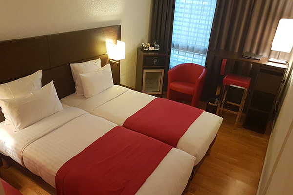 Twin Room at Nash Airport Hotel, Geneva